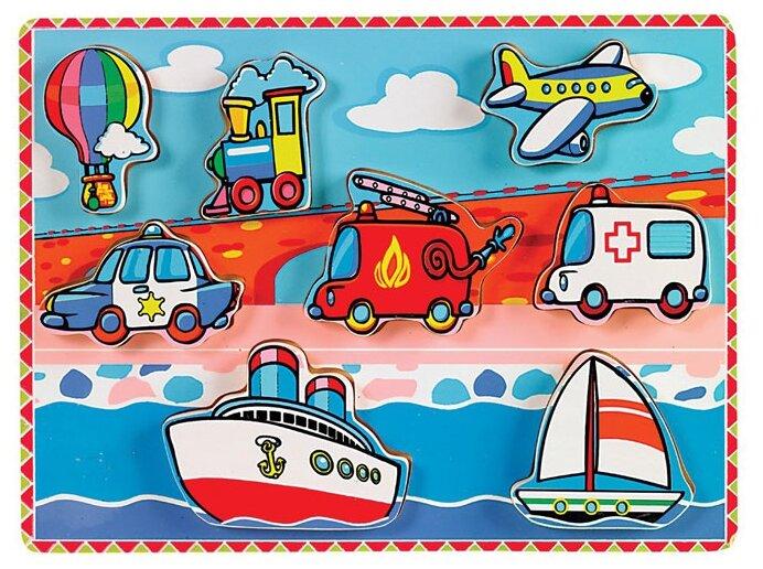 Рамка-вкладыш Viga Транспорт (56436), 8 дет.