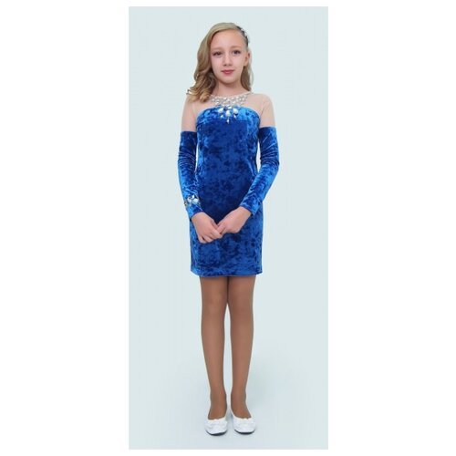 Купить Платье Ladetto размер 32-134, голубой, Платья и сарафаны