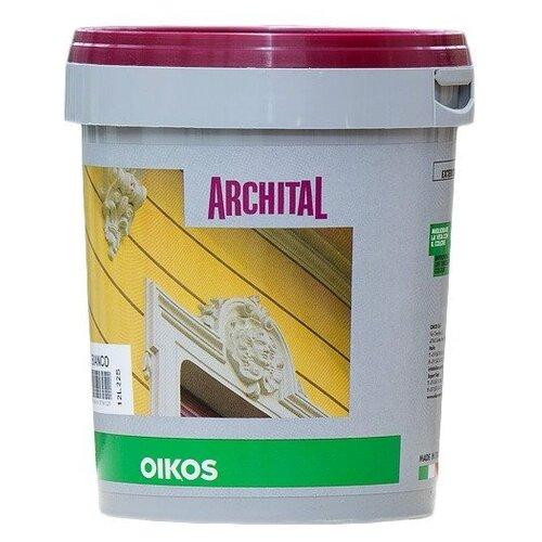 Краска акриловая Oikos Archital влагостойкая моющаяся матовая белый 1 л краска акриловая oikos multidecor перламутровая моющаяся es710 1 л