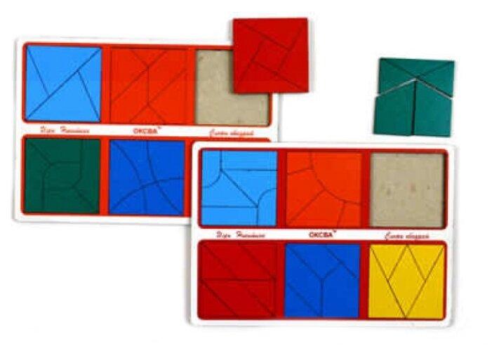 Развивающая игра Оксва Сложи квадрат, 3 уровень сложности (класс «эконом»)