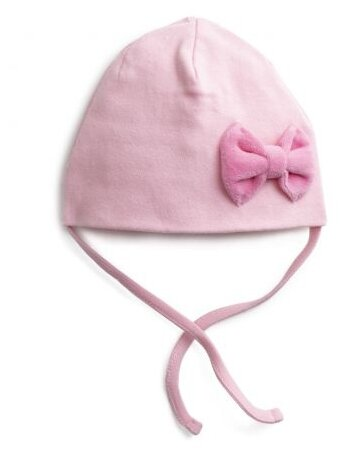 Шапка playToday размер 44, светло-розовый