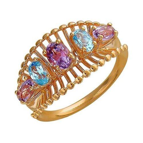 Эстет Кольцо с аметистами и топазами из красного золота 01К318021, размер 17.5 эстет кольцо с 80 аметистами из красного золота 01о310312а размер 18 5