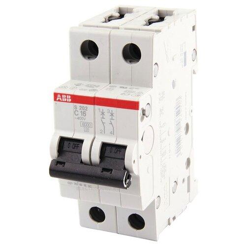 Автоматический выключатель ABB S202 2P (C) 6кА 50 А автоматический выключатель legrand dx3 e 6000 6ка тип c 3п 25а 407293