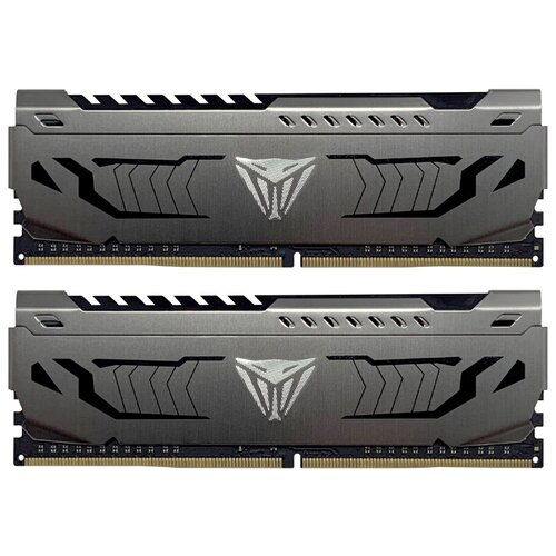 Оперативная память Patriot Memory VIPER STEEL DDR4 3000 (PC 24000) DIMM 288 pin, 16 ГБ 2 шт. 1.35 В, CL 16, PVS432G300C6K