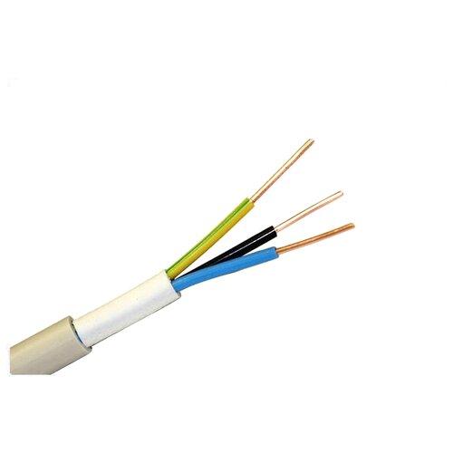 Кабель Пан Электрик NYM 3х2.5 (5 м) ГОСТ белыйКабели и провода<br>