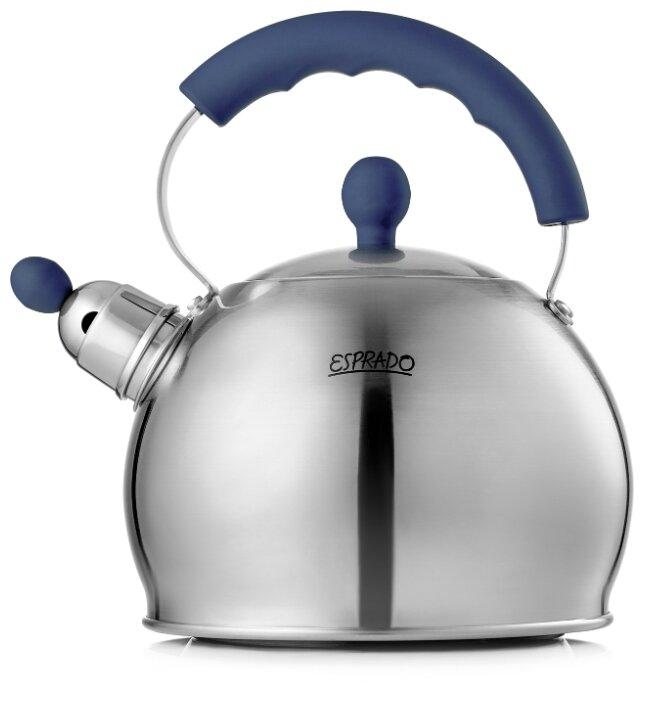 Esprado Чайник со свистком Leon 2,5 л темно-синий/серебристый