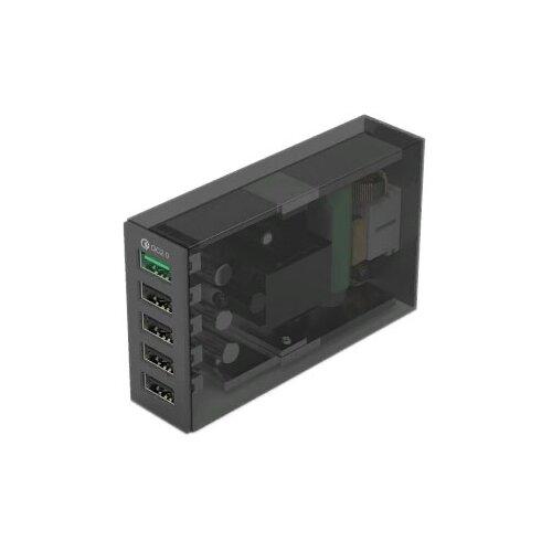 Фото - Сетевая зарядка ORICO QSL-5U, черный сетевое зарядное устройство orico qsl 5u bk 2 4а черный