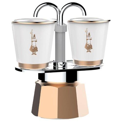 Гейзерная кофеварка Bialetti Mini Express (2 чашки), золотой