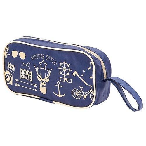 Косметичка HOMSU Hipster Style Premium, синий косметичка homsu homsu mp002xw0go28