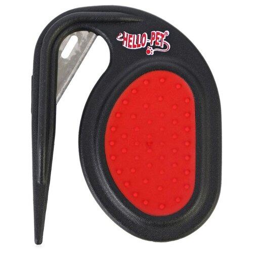 Щетка-колтунорез Hello PET 23200, черный/красный щетка колтунорез hello pet 23809l черный красный