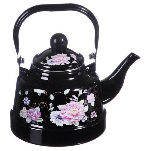 Vetta Чайник Иллюзия 894446 1,7 л черный/розовый