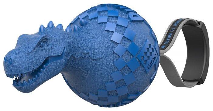 Мячик для собак GiGwi Push to mute Dinoball (75417)