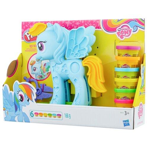 Купить Масса для лепки Play-Doh Стильный салон пони Рейнбоу Дэш (B0011), Пластилин и масса для лепки