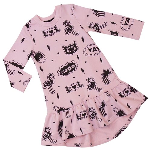 Платье ALENA Фламинго размер 122-128, розовый фламинго