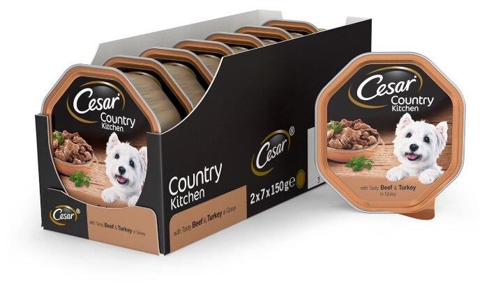 Корм для собак Cesar Country Kitchen говядина, индейка 150г