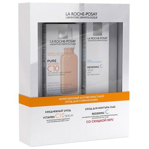 Набор La Roche-Posay Vitamin C10 + Redermic C Eyes la roche posay сыворотка pure vitamin c10 serum витамин с10 cерум 30 мл