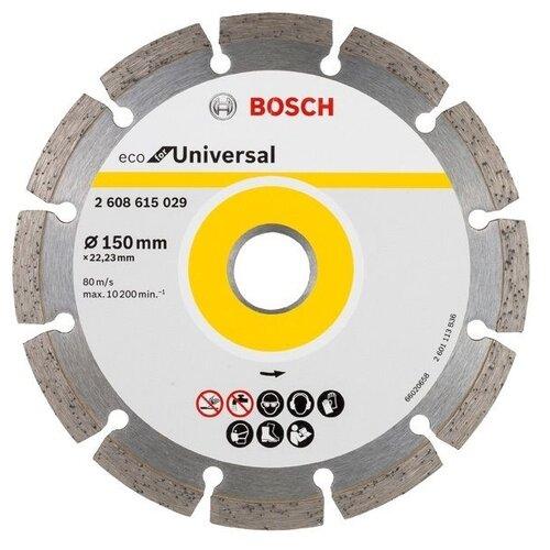 Фото - Диск алмазный отрезной BOSCH Eco for Universal 2608615029, 150 мм 1 шт. диск алмазный отрезной bosch standard for universal turbo 2608602395 150 мм 1 шт