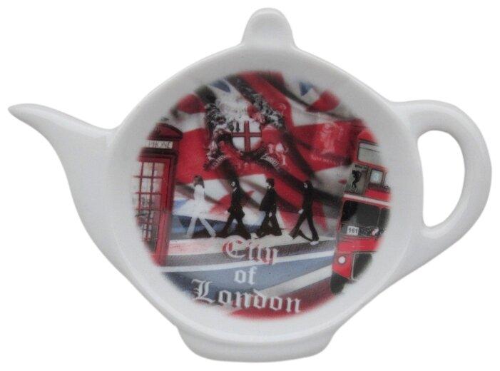 Подставка для чайных пакетиков Gift'n'Home Лондонские Фантазии TB-London белый/красный