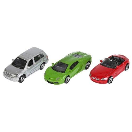 Купить Набор машин ТЕХНОПАРК TOP825 1:72 красный/зеленый/серый, Машинки и техника