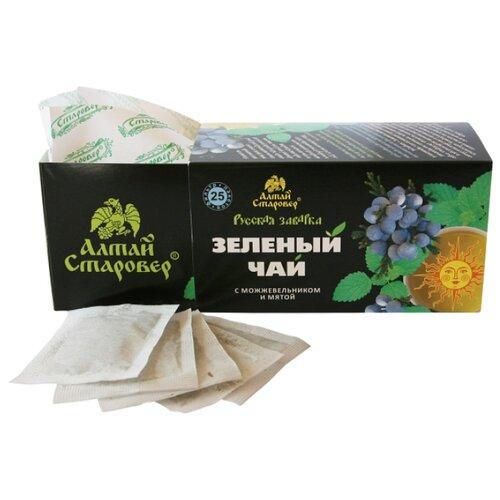 Чай зеленый Алтай старовер Русская заварка в пакетиках, 25 шт. косметика зеленый алтай