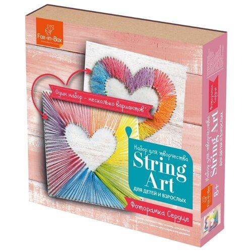 Fox-in-Box Набор для творчества Стринг Арт Фоторамка Сердце (FB606311)