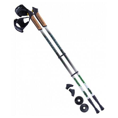 Палки для скандинавской ходьбы со сменными комплектующими BERGER Starfall 2-секционная 77-135 см черный/белый/ярко-зеленый