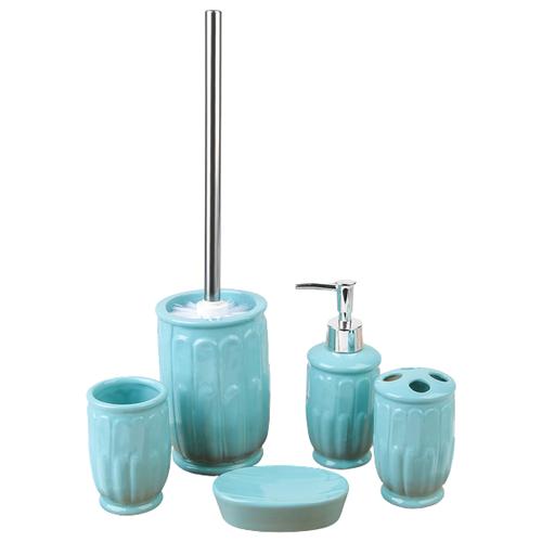 Фото - Набор для ванной Доляна Колос 450349, голубой набор для ванной доляна грация 2698471 персиковый