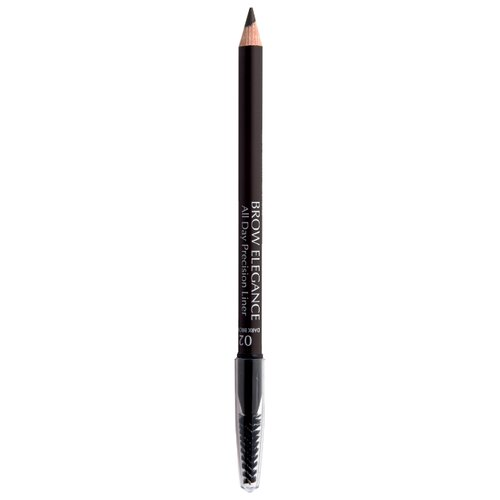 Seventeen карандаш Brow Elegance All Day Precision Liner, оттенок 02, Dark Brown seventeen карандаш brow elegance all day precision liner оттенок 02 dark brown