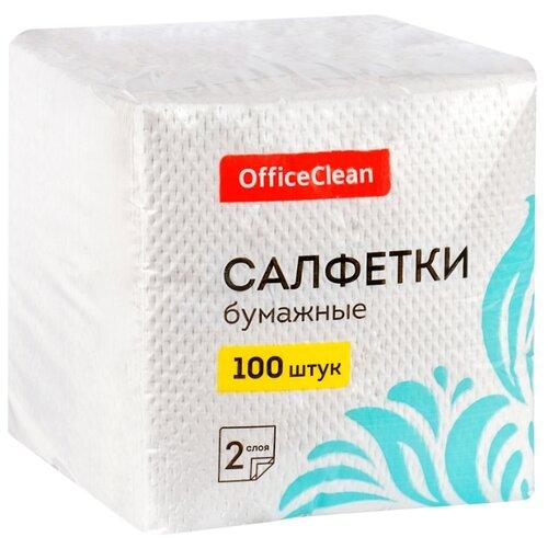 Фото - Салфетки OfficeClean белые 2 слоя, 100 шт. хозяйственные товары officeclean туалетная бумага 2 слоя 4 шт