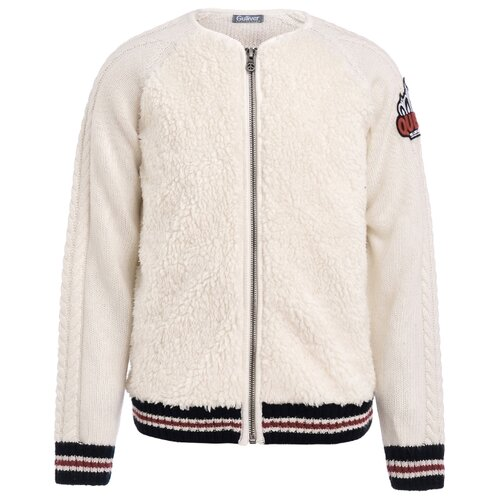 Купить Кардиган Gulliver размер 170, белый, Свитеры и кардиганы