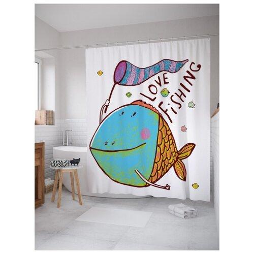 Фото - Штора для ванной JoyArty Любитель рыбалки 180х200 (sc-21307) разноцветный товары для рыбалки