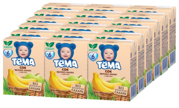 Сок с мякотью Тёма Яблоко-банан, c 6 месяцев (18 шт)