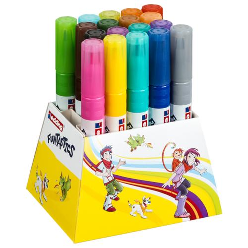Edding Фломастеры 14-Funtastics 3 мм, 18 шт. разноцветные edding фломастеры 15 funtastics 1 мм 12 шт разноцветные