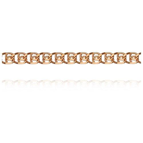 АДАМАС Цепь из золота плетения LOVE ЦЛ155А2-А51, 50 см, 8.6 г