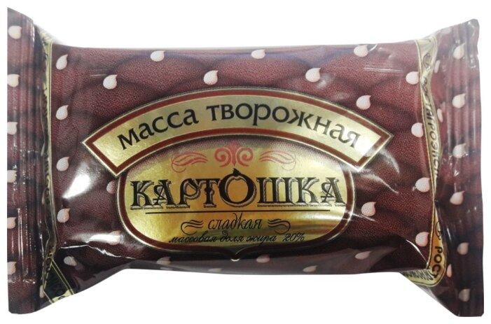 РОСТАГРОЭКСПОРТ Творожная масса сладкая Картошка 20%, 100 г