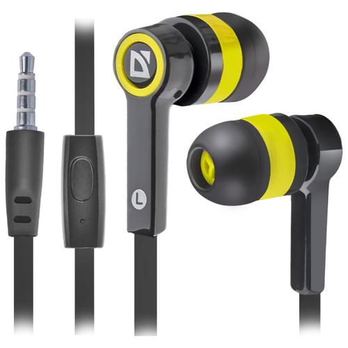 Купить Наушники Defender Pulse-420 черный/желтый