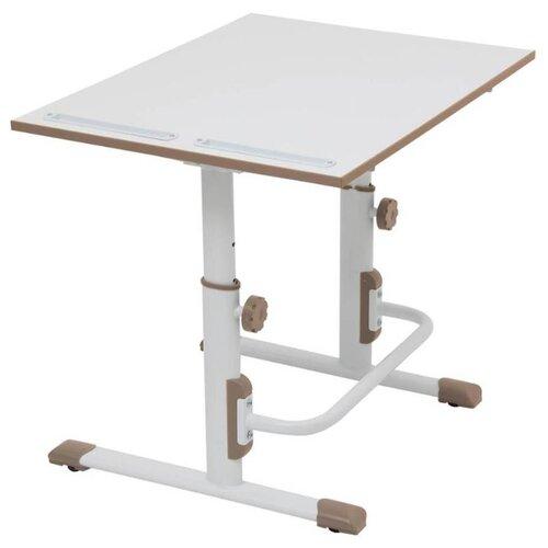 Купить Стол Polini Simple М1 75x55 см белый/коричневый, Парты и столы