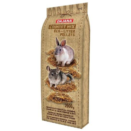 Солома Dajana Pet Country Mix для крупных грызунов 2 кгСено, наполнители для птиц и грызунов<br>