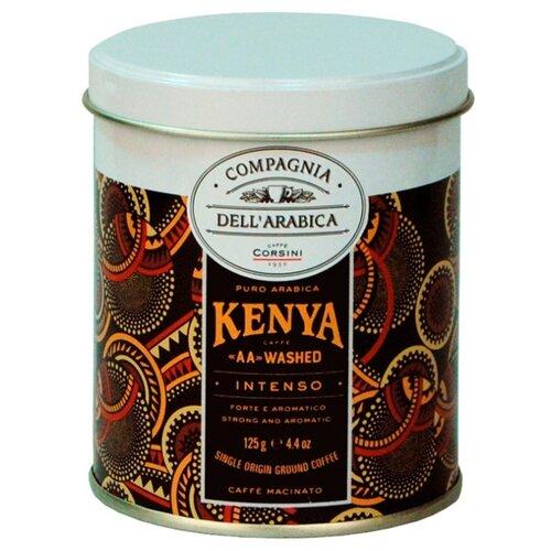 Фото - Кофе молотый Compagnia Dell'Arabica Puro Arabica Kenya AA Washed, жестяная банка, 125 г кофе молотый compagnia dell arabica brasil santos 125 г