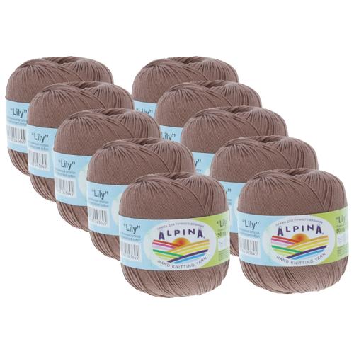 Купить Пряжа Alpina Lily, 100 % хлопок, 50 г, 175 м, 10 шт., №223 бл.коричневый