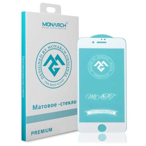 Защитное стекло Monarch матовое для Apple iPhone 7 Plus/iPhone 8 Plus белый/прозрачный защитное стекло для iphone 8 plus 7 plus cellular line tempglassiph755