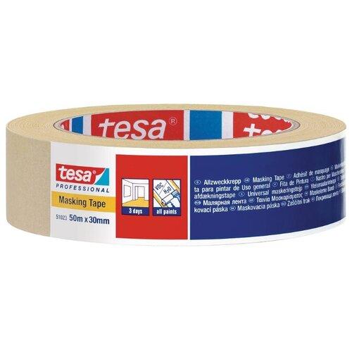Фото - Клейкая лента малярная Tesa 51023-00004-00, 30 мм x 50 м клейкая лента малярная tesa 55592 36 мм x 50 м