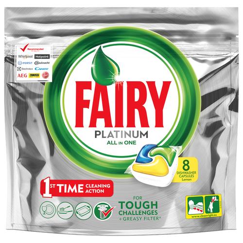 Fairy Platinum All in 1 капсулы (лимон) для посудомоечной машины 8 шт. декор tubadzin vampa platinum 29 8х59 8