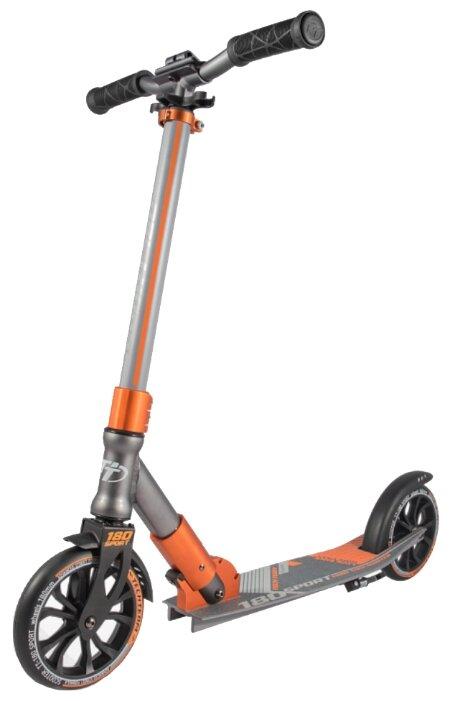 Городской самокат Tech Team TT 180 Sport серо-оранжевый