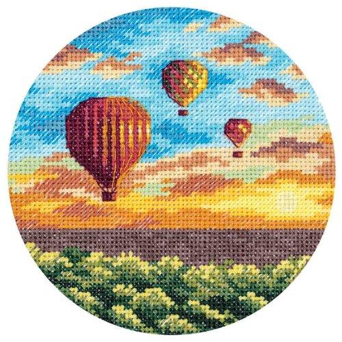 Купить PANNA Набор для вышивания Воздушные шары на закате 12 x 12 см (PS-7059), Наборы для вышивания