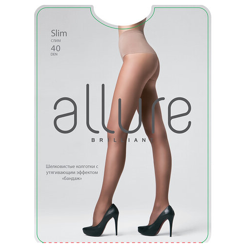 Колготки ALLURE Brilliant Slim 40 den nero 4 (ALLURE)Колготки и чулки<br>