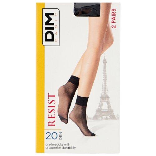 Капроновые носки DIM D01GF, 2 пары, размер 35-41, черный носки 017d 2 пары dim 35 38 черный