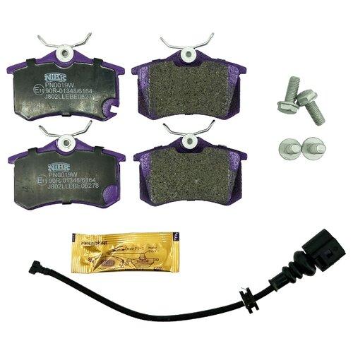 Дисковые тормозные колодки задние NIBK PN0019W (4 шт.)