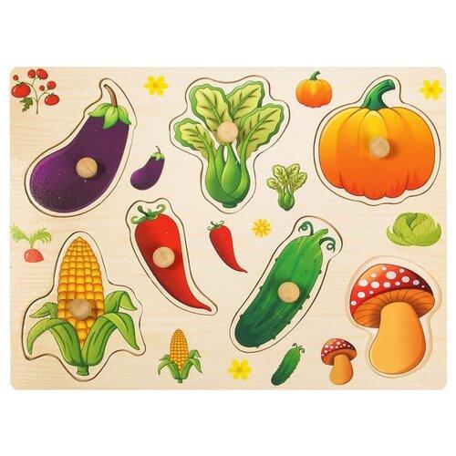 Купить Рамка-вкладыш Подбери картинку Овощи-грибы 2567257, Лесная мастерская, Пазлы