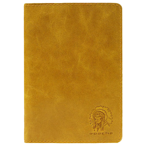 Бумажник водителя из натуральной ОВ-А табачно-желтый Аpache